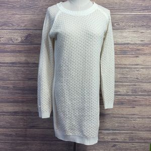 Pink Rose Cream colored knit sweater dress